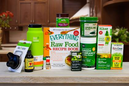 a wide variety of green superfoods and several other all-natural products
