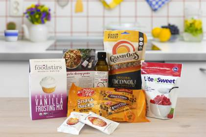 An array of delicious goods for healthy baking
