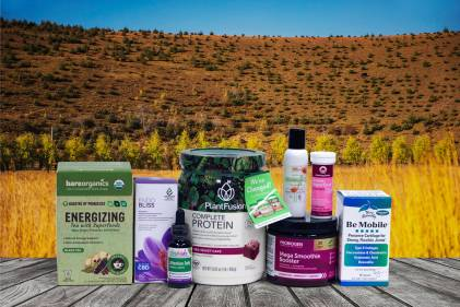 a selection of all-natural products meant to rejuvenate you