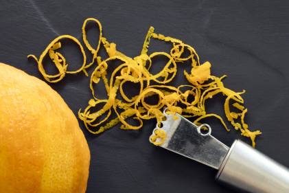 A pile of orange zest