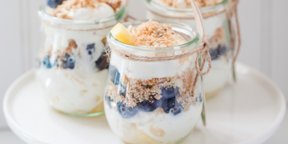 Blueberry-Pineapple Parfaits