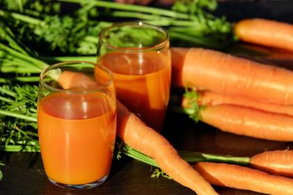 well-blended smoothies with fresh carrots