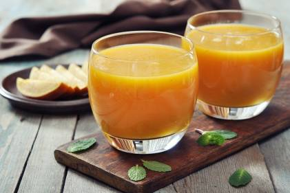 Two glasses of paradise shake