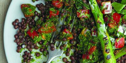 Black Lentil and Salsa Verde Salad