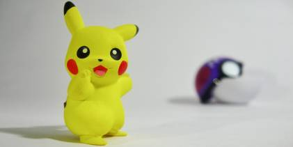 Pikachu with pokeball