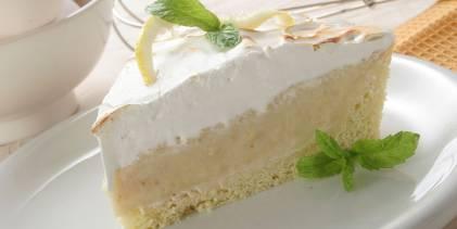 A slice of creamy lemon pie with gluten-free crust