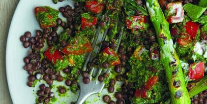 Black Lentil and Salsa Verde Salad
