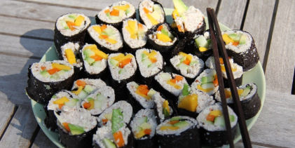 A plate of sushi for people who don't like fish