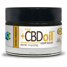 A tub of extra-strength CBD oil hemp balm
