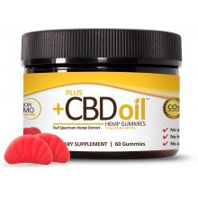 A jar of CBD oil hemp gummies