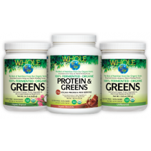 Whole Earth & Sea 100% Fermented Organic Greens and Protein & Greens