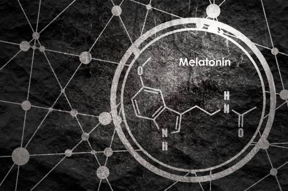 a diagram of a melatonin molecule