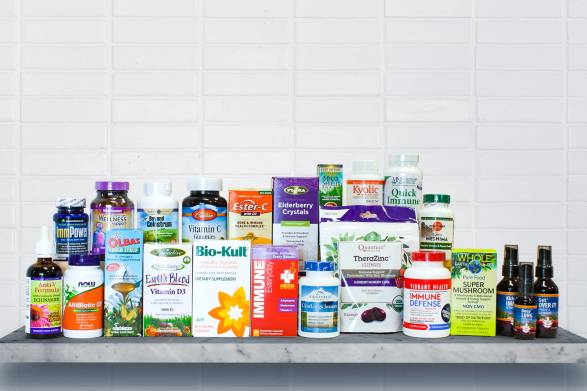 A curated selection of all-natural supplements for immunity