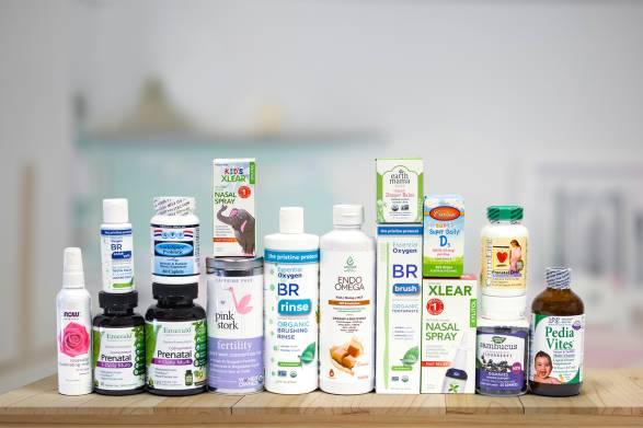 a selection of all-natural products for babies on the way and their mothers