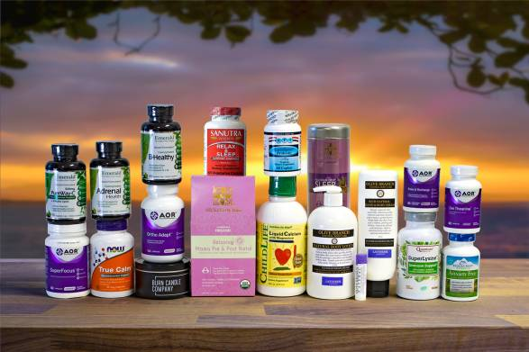 a wide variety of all-natural products to help stay calm and healthy